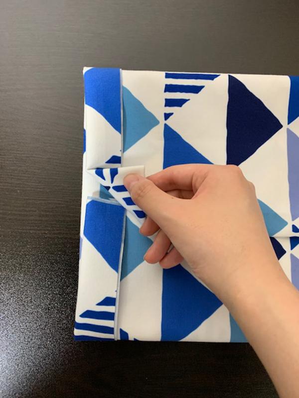 ブックカバー折り方16