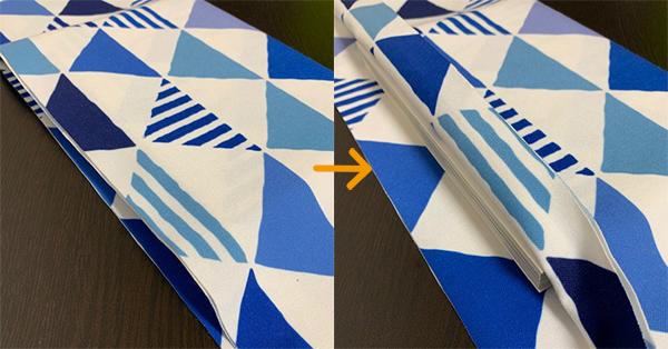 ブックカバー折り方6