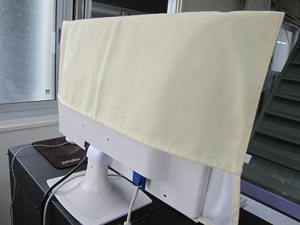 パソコンディスプレイ用カバー背面