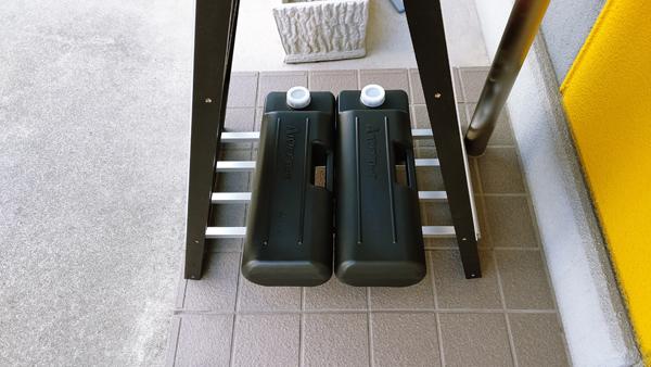 注水式ウエイト・注水式ウエイト置き台 使用したところ
