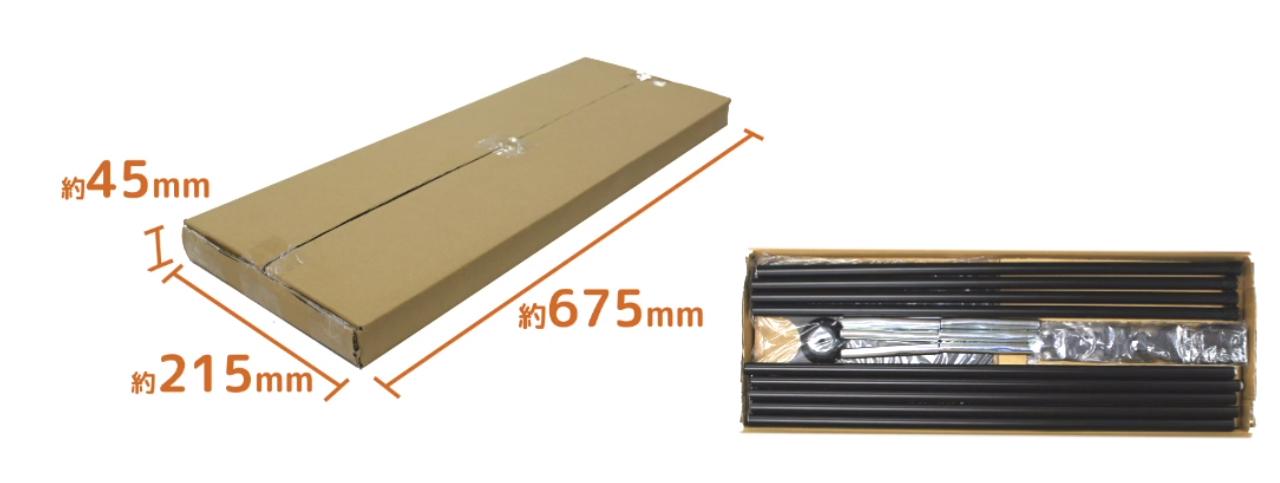 飛沫ガードセット梱包サイズ
